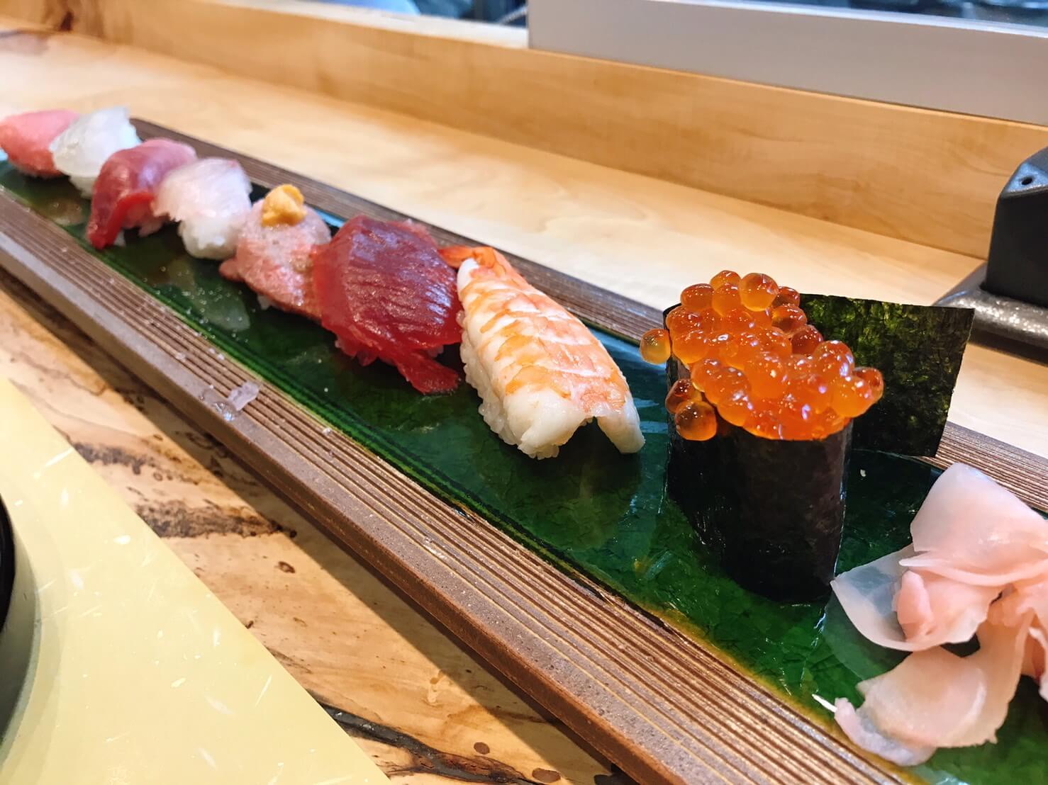 松喜うしのお寿司8貫