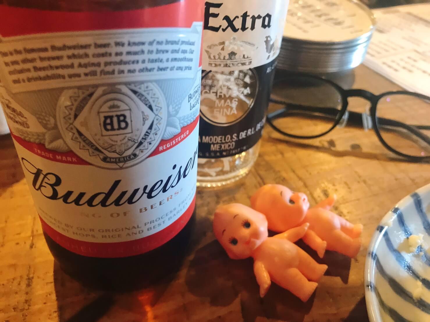 社交酒場イムのキューピーとビール