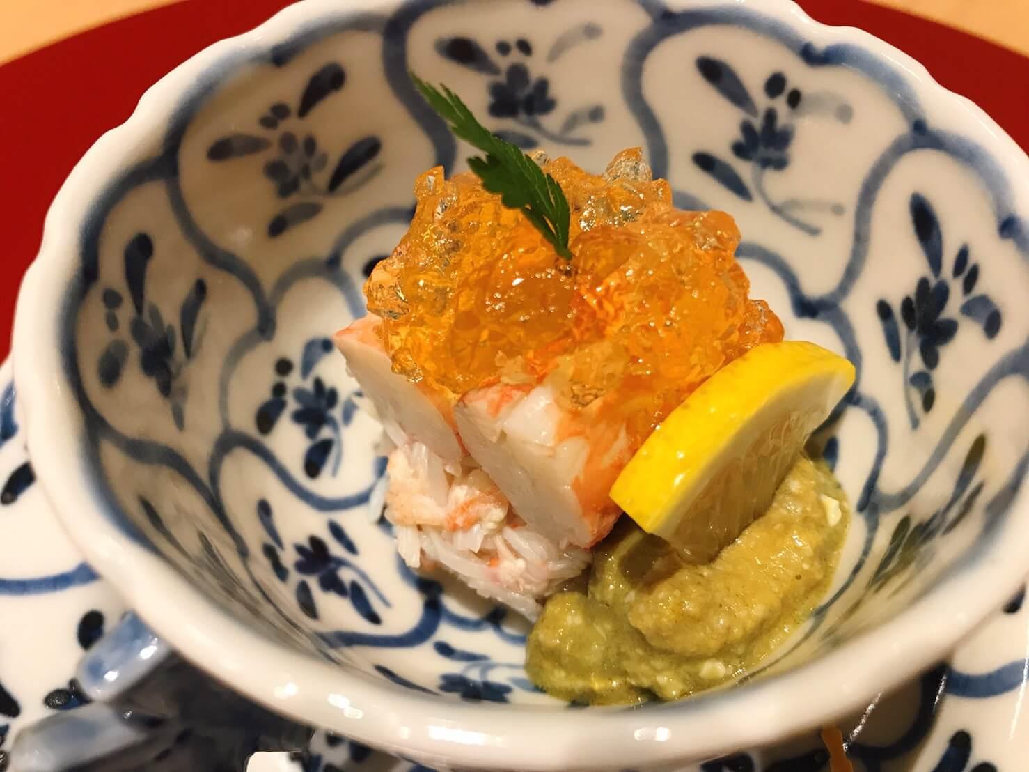 ひら井名古屋の越前ずわい蟹ほぐし