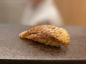 名古屋の寿司屋あま木ののどぐろ握り