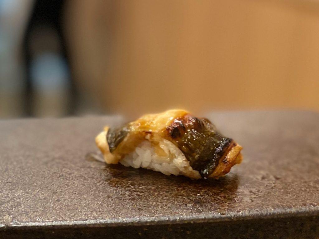 名古屋の寿司屋あま木の穴子にぎり