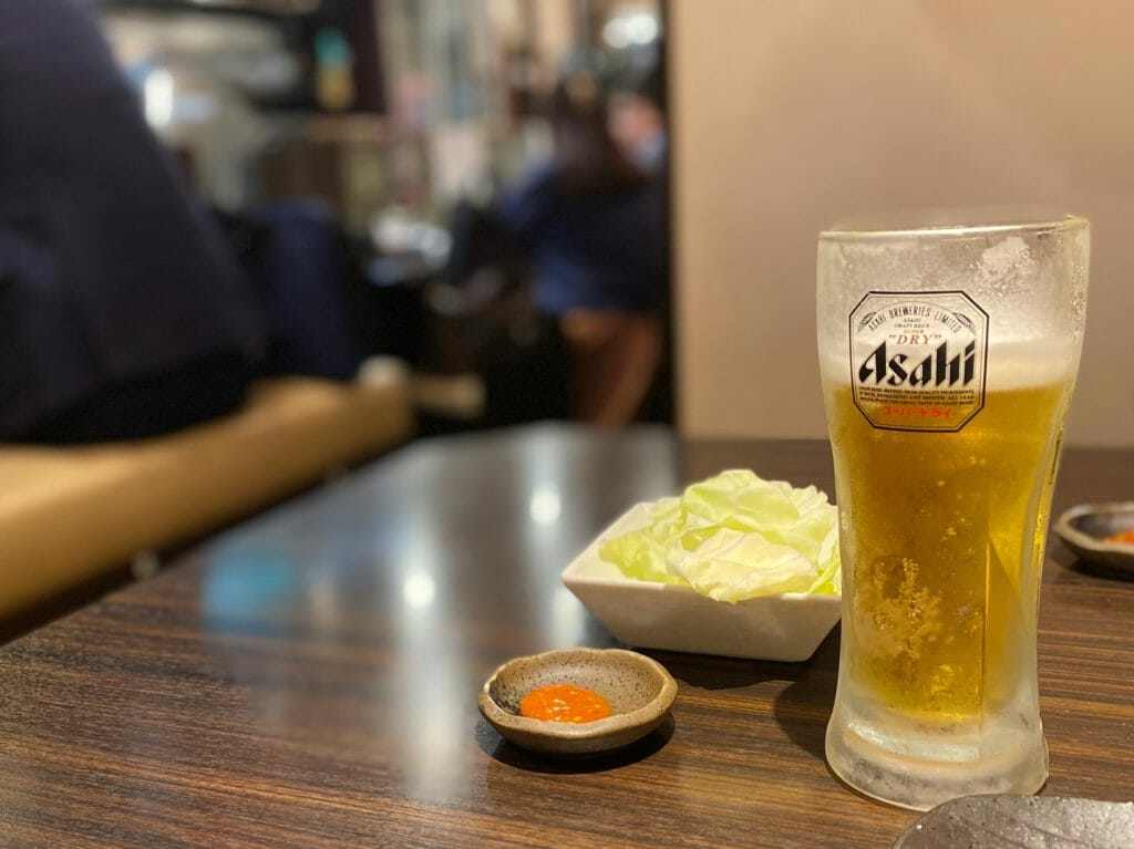 焼鳥かどまつ名駅店のビール
