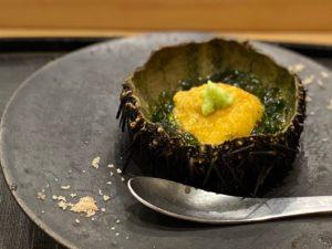 名古屋の寿司屋あま木の雲丹海苔
