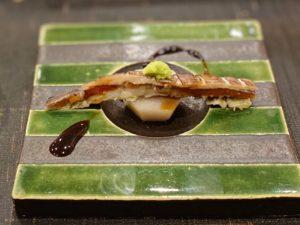 名古屋の寿司屋あま木のシャコと山芋