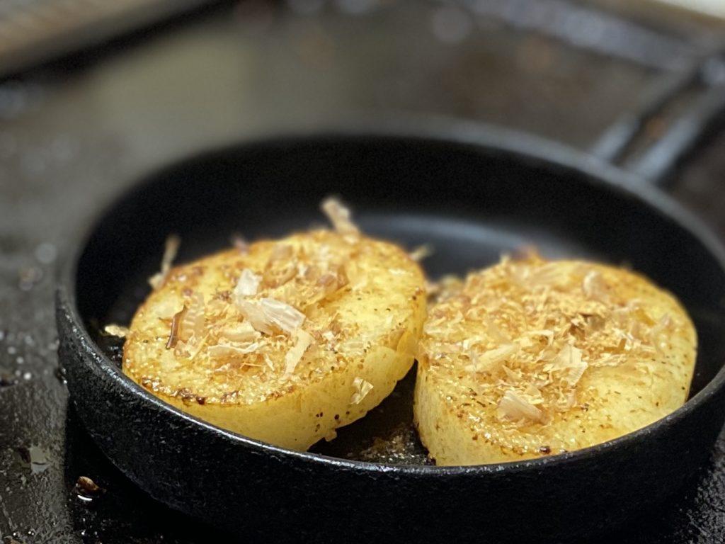 鉄板焼しゃぶしゃぶ牧野山芋の鉄板焼