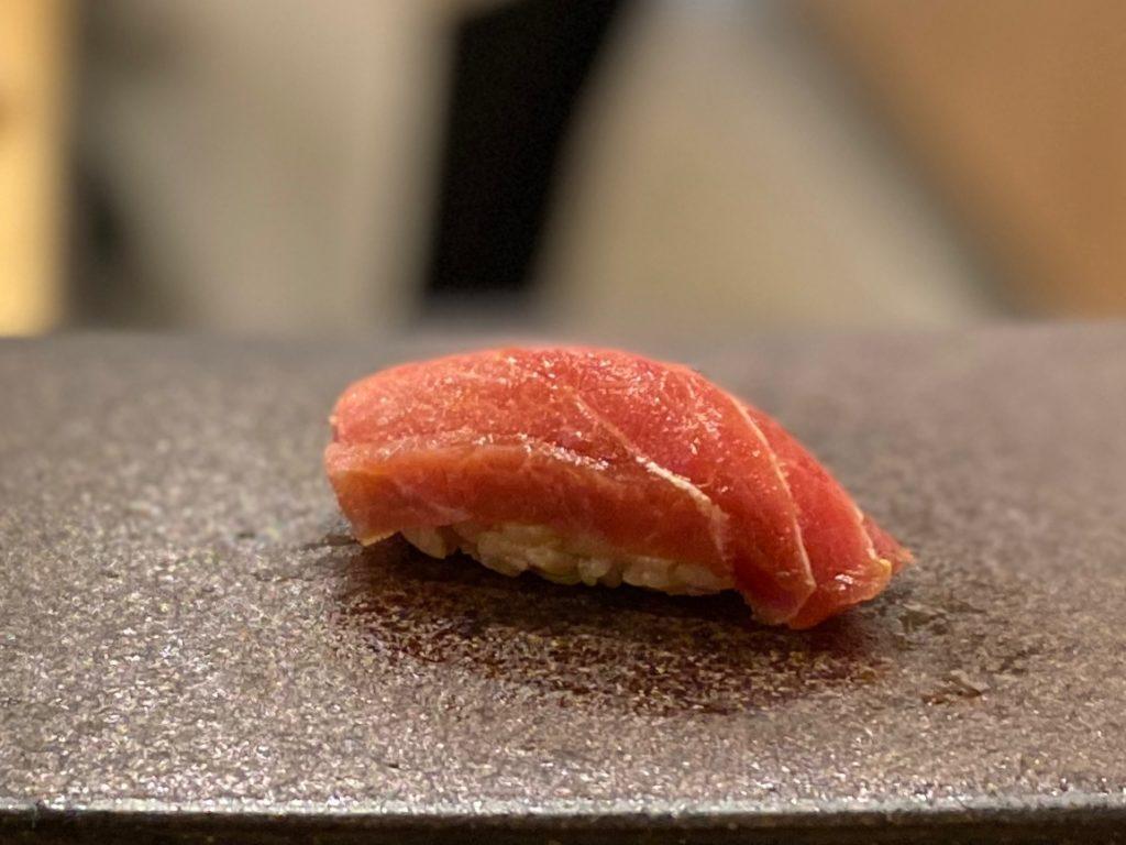 名古屋の寿司屋あま木の中トロ