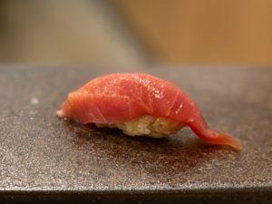名古屋の寿司屋あま木の中トロ握り