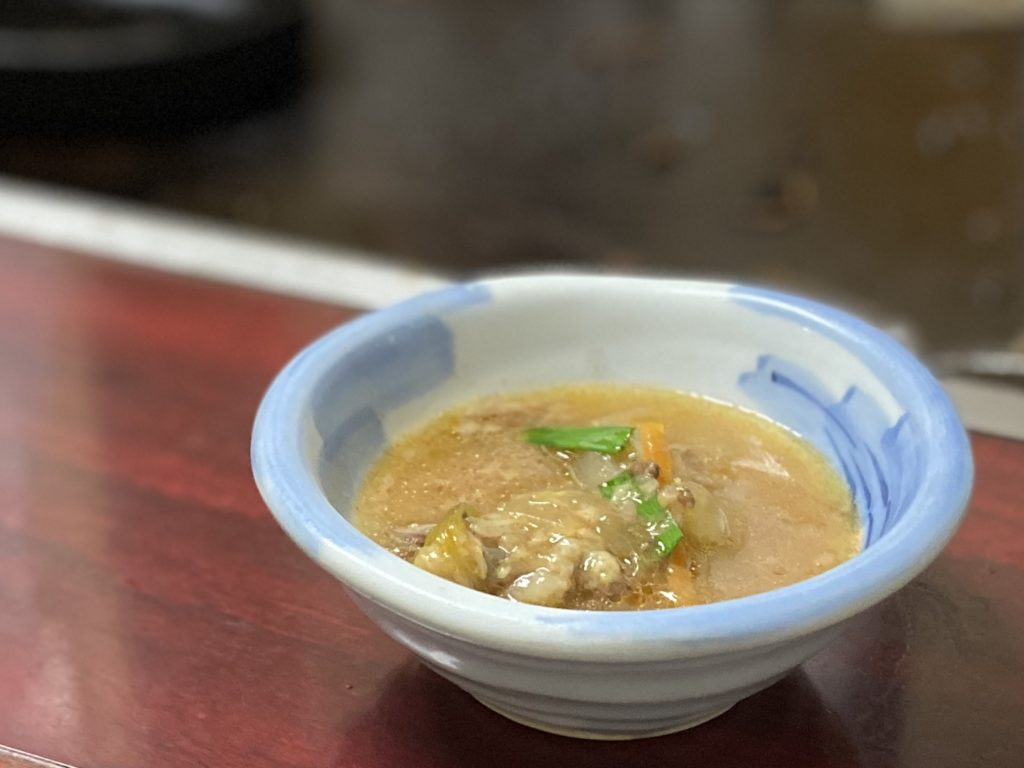 鉄板焼しゃぶしゃぶ牧野牛テールスープ