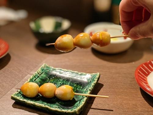 ええとこの半熟卵の燻製串