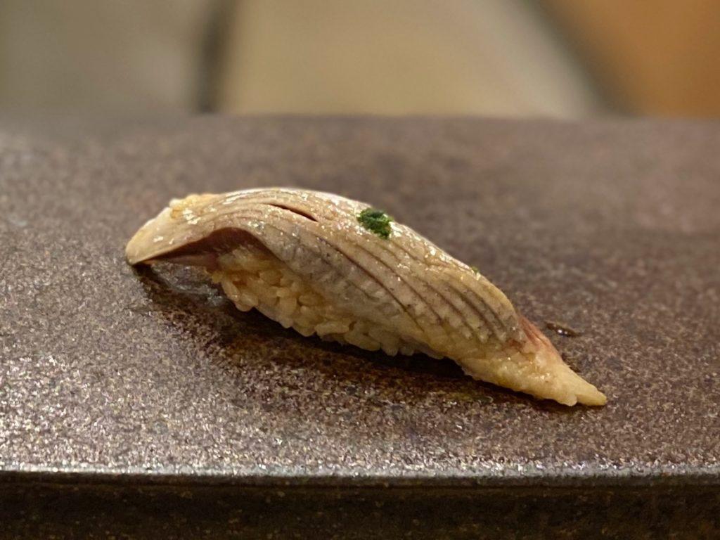 名古屋の寿司屋あま木のいわし握り