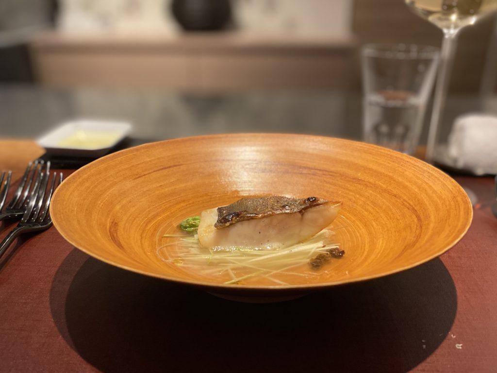 イルアオヤマ マナガツオのスープ